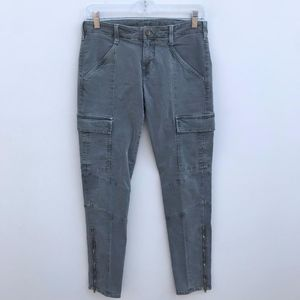 J Brand Cargo Ankle Zip Skinny Jeans #2154